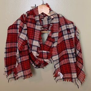 Madewell Nightglen Plaid Wool Scarf